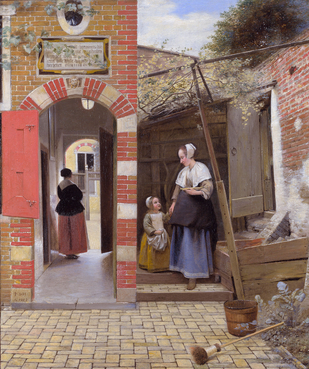 1. Pieter de Hooch The Courtyard of a House in Delft