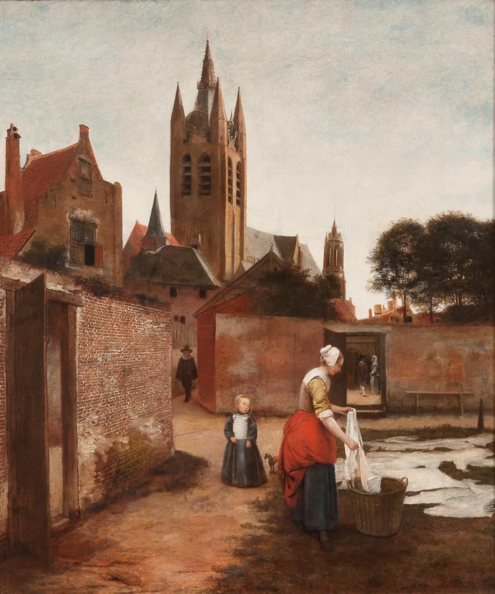 Pieter de Hooch Woman and child in a bleaching ground in Delft 1657 1659. Private collection